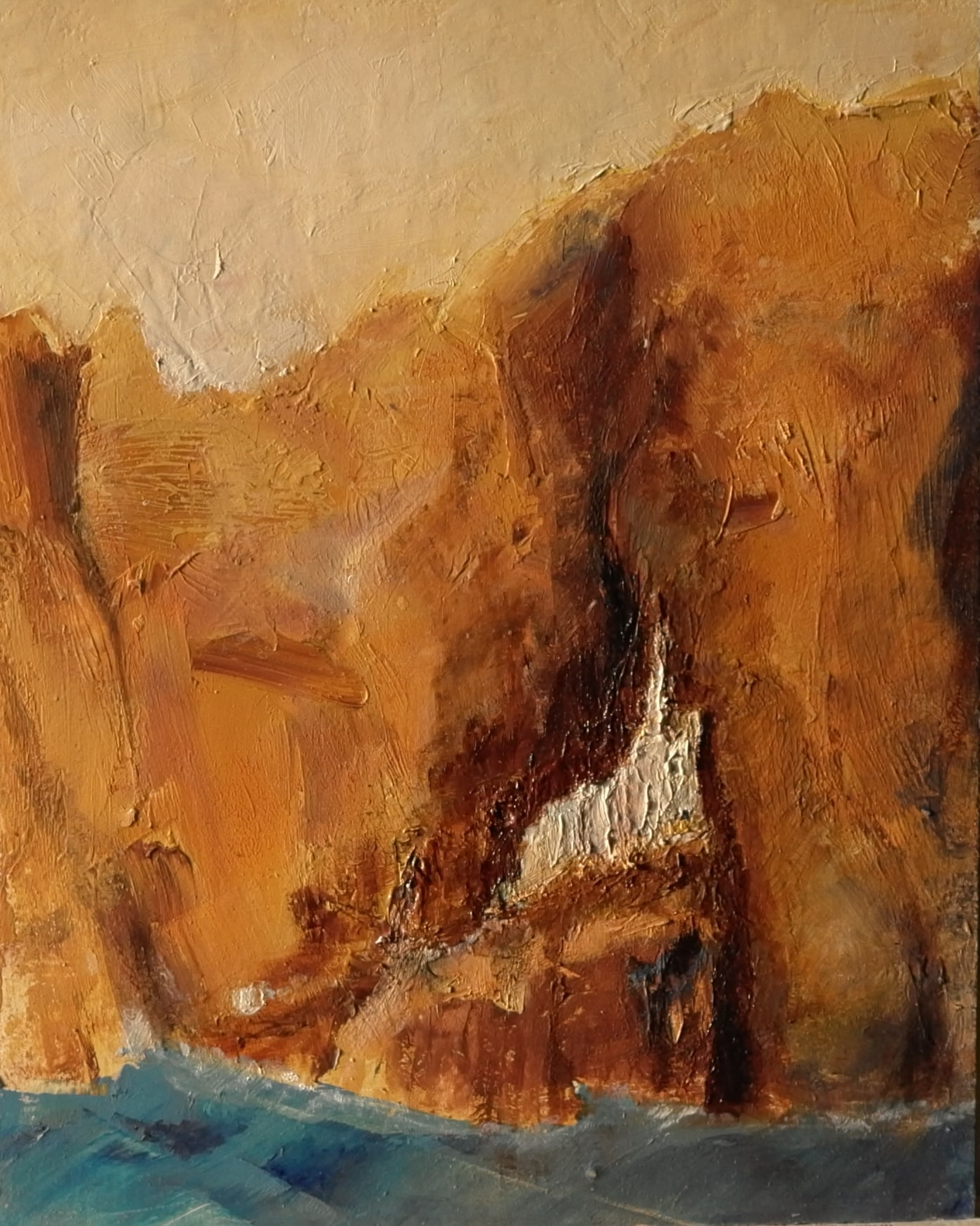 Amorgos (oil and wax on paper, 25cm x 20cm)