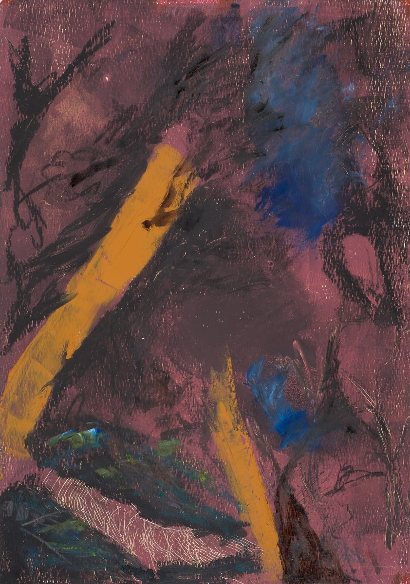 Fossil 3 (oil and wax on paper, 36cm x 51 cm)