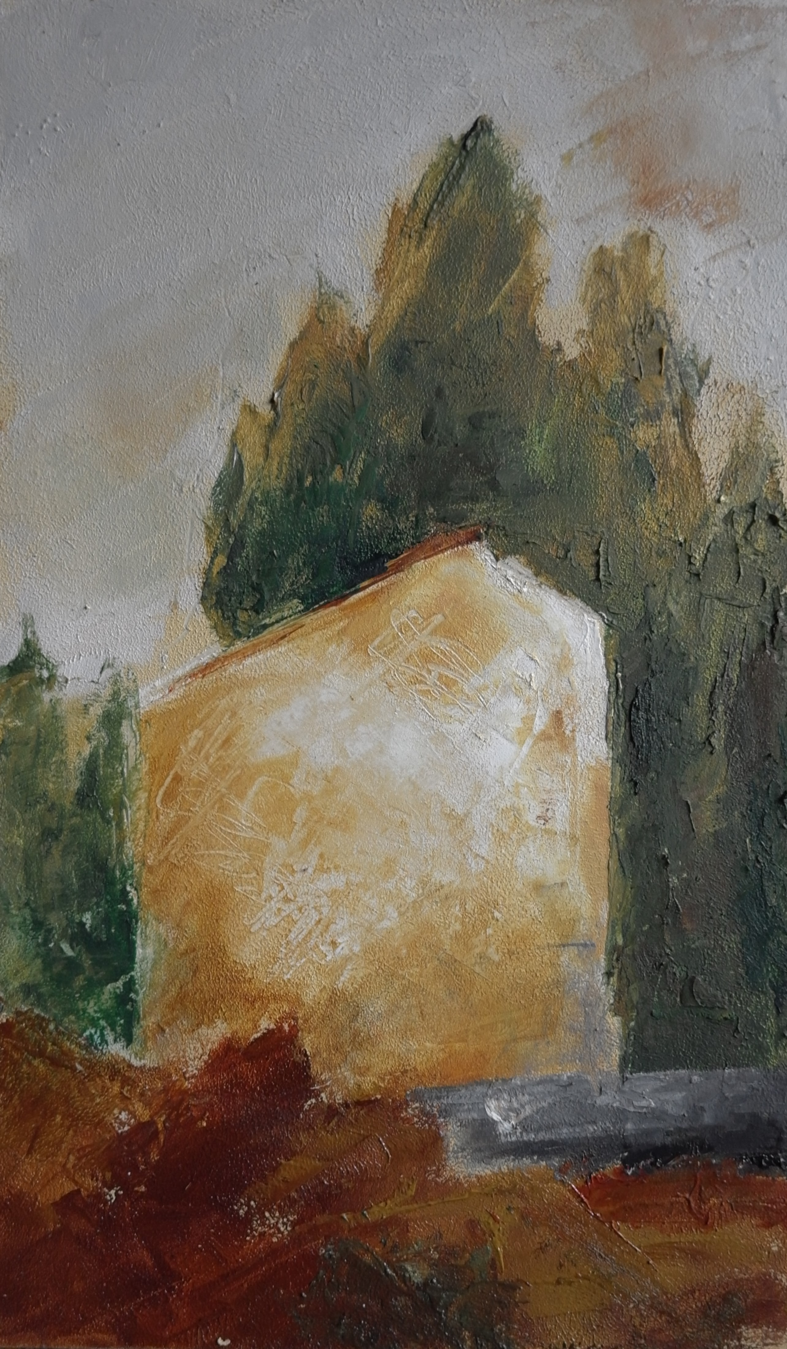 Omaggio a Morandi, After Afro (oil and wax on paper, 25cm x 20cm)