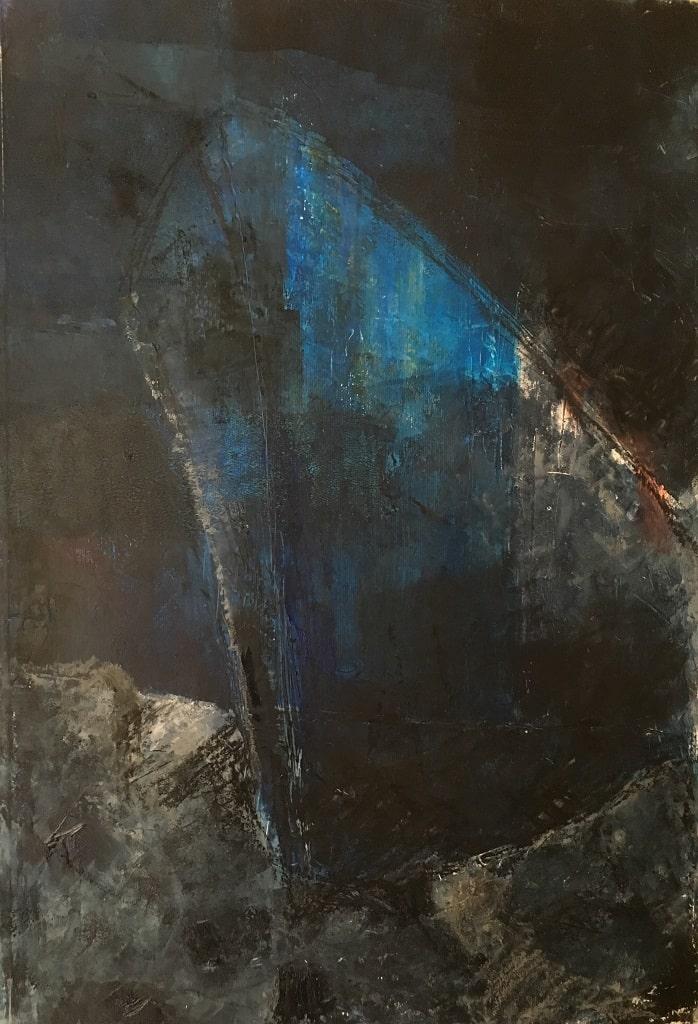 Relitto 2 (olio e cera, 50cm x 35cm)