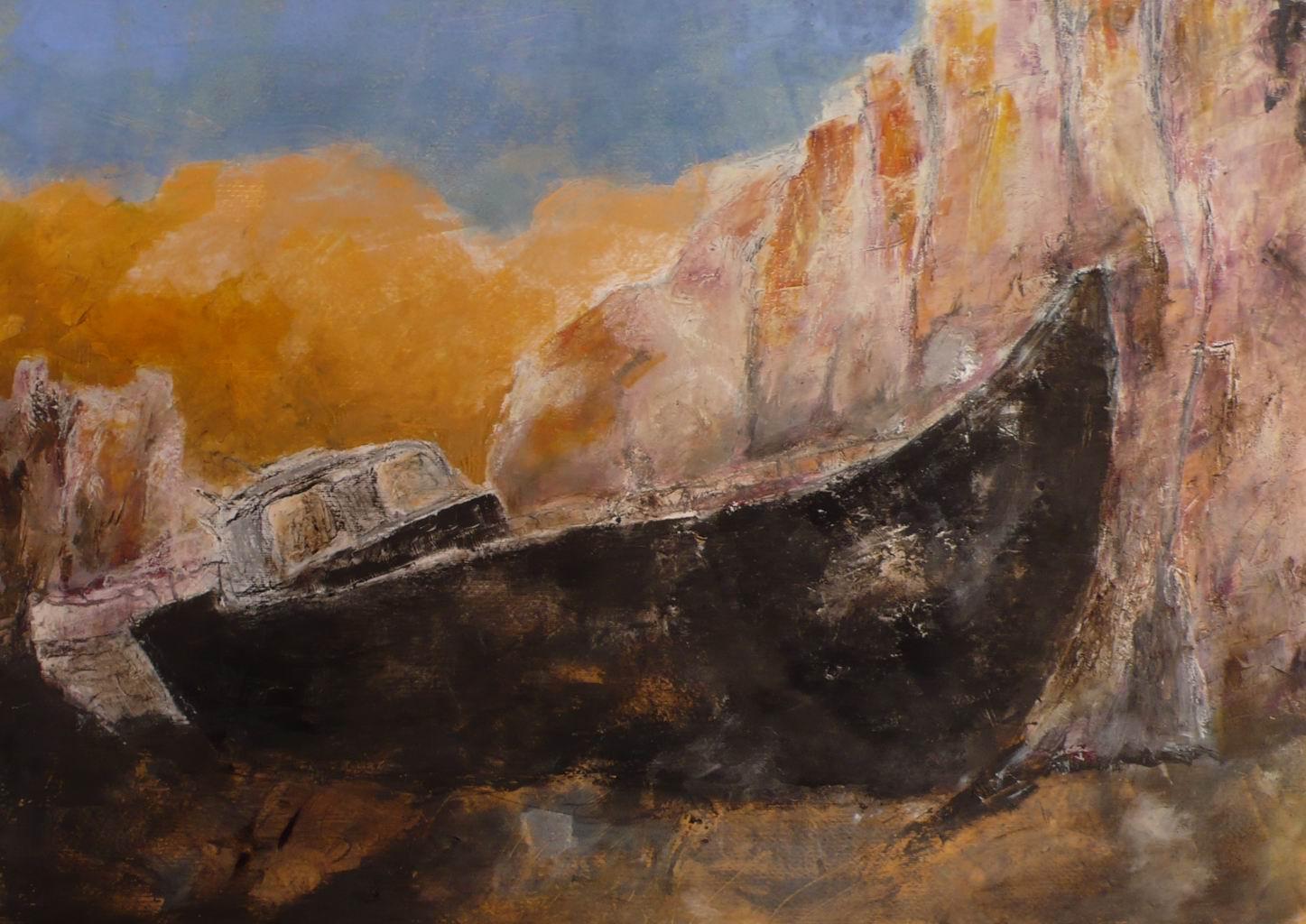 Relitto 6 (olio e cera, 50cm x 70cm)