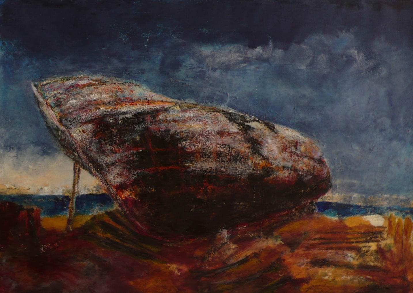 Relitto 7 (olio e cera, 50cm x 70cm)