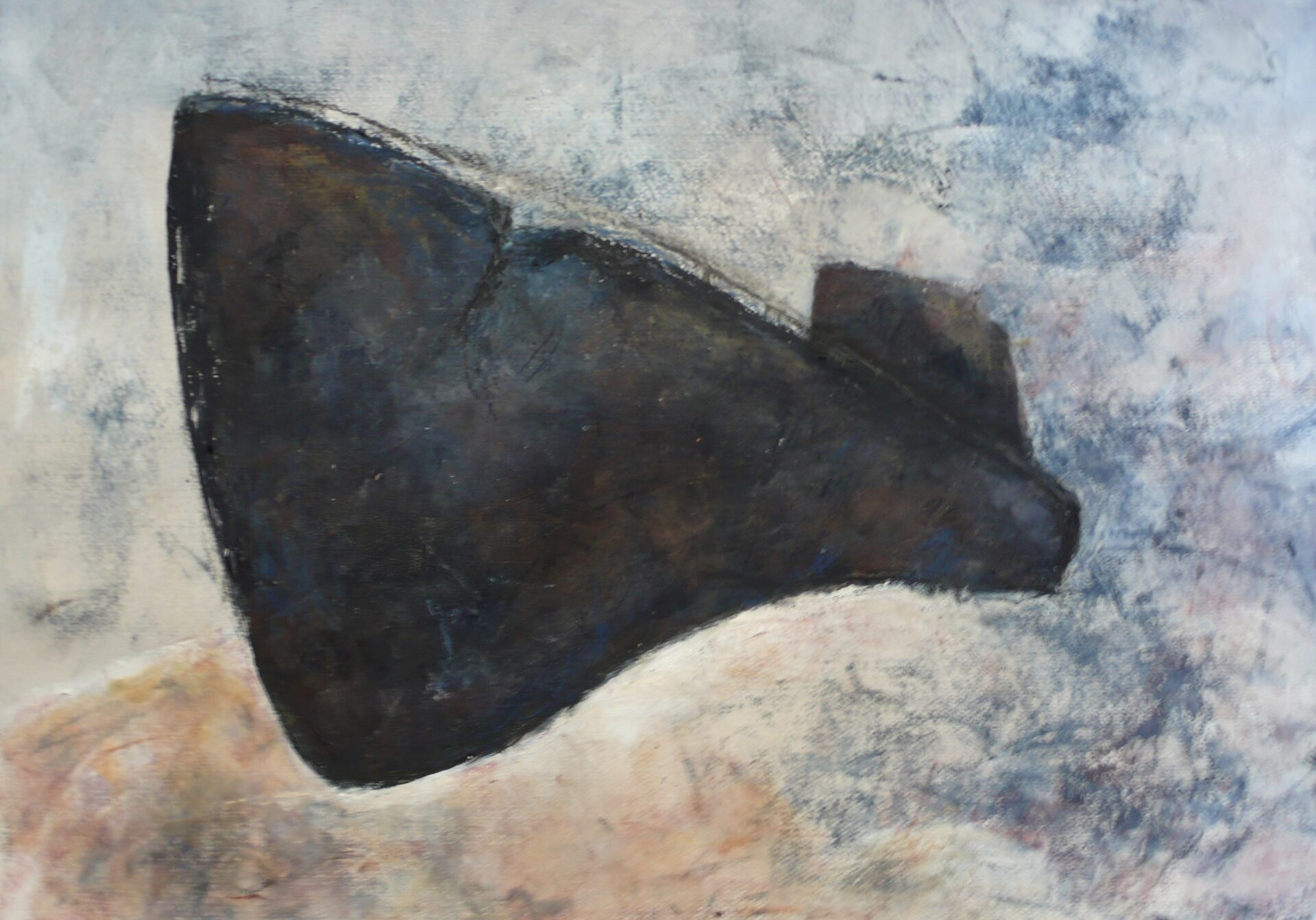 Relitto 9 (oil and wax , 50cm x70 cm)
