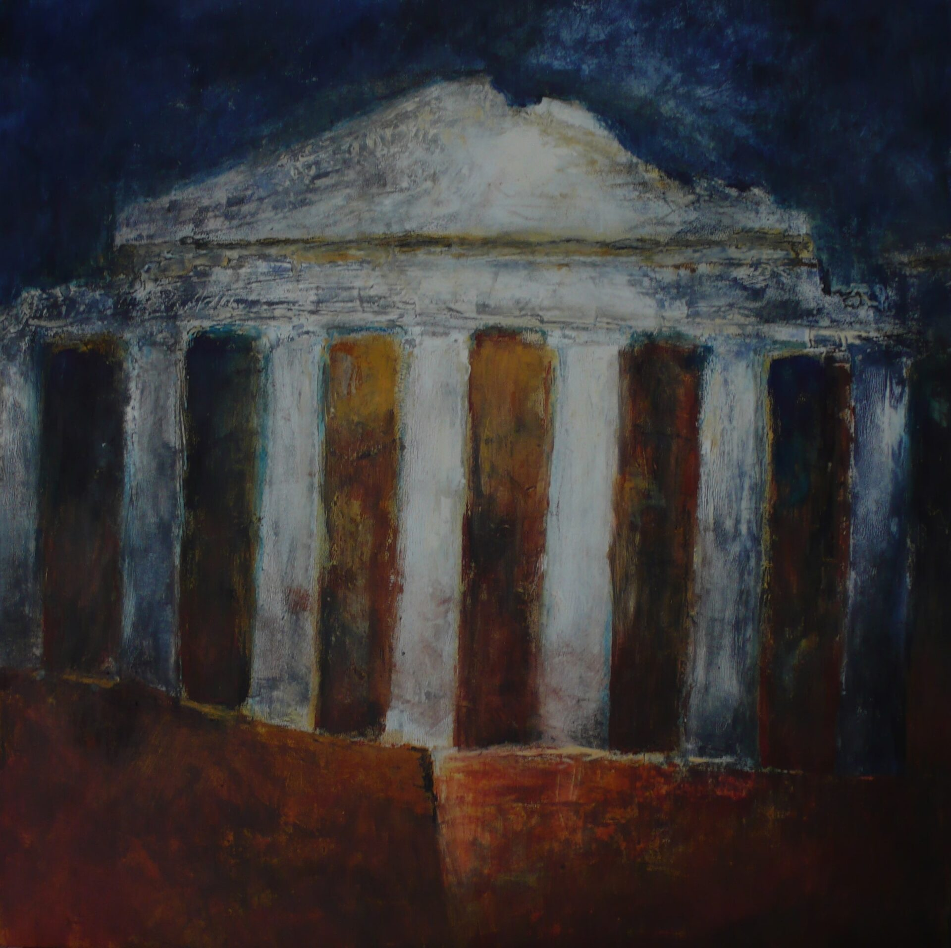 Acropoli - Oil and wax on MDF 70 x70